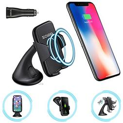 WIRELESS Qi Car Charger Windshield 360° Rotating AGOZ Mount