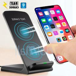 Wireless Qi Fast Charger Charging Stand Dock Pad for Samsung
