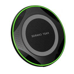 Qi Fast Wireless Charger Pad for iPhone & Samsung Phones