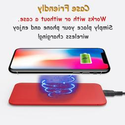 wireless ultra slim red qi cell phone